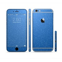 The Blue Subtle Speckles Sectioned Skin Series for the Apple iPhone 6