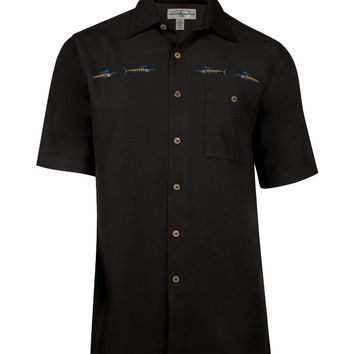 Men's Marlin Bones Embroidered Fishing Shirt