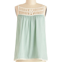 ModCloth Festival Mid-length Spaghetti Straps Whimsical Window Shopping Top