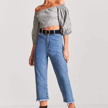 Glen Plaid Crop Top