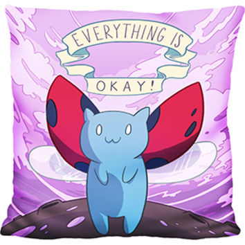 Everything Is Okay Catbug Pillow