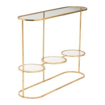 A11534 Aron Console Table Gold