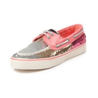 Womens Sperry Top-Sider Bahama Ombre Sequin Boat Shoe, Peach, at Journeys Shoes