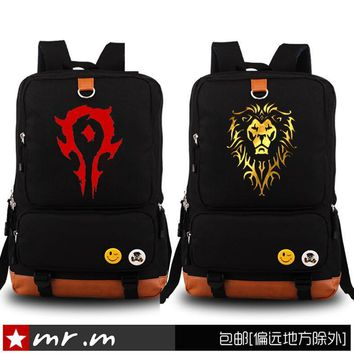 New Game World Of Warcraft Backpack Men And Women High And Junior High School Students bag female Computer Bag men shoulder bag