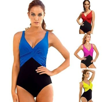 One Piece Swimwear Women Female Bikini Swimsuit Beachwear Beach