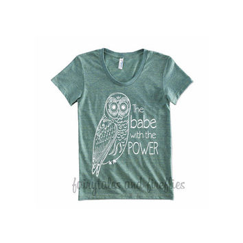 Labyrinth shirt - Owl shirt - The Babe with the power - Womens shirt - kids shirt