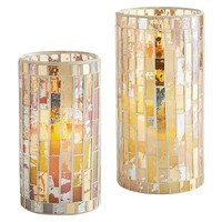 Gold Mosaic LED Candles$9.98 - $13.48