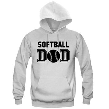 Softball DAD Hooded Sweatshirt - Great Gift for the Greatest DAD