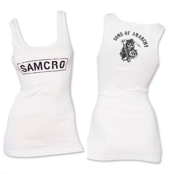 SAMCRO Sons of Anarchy White Tank Top NWT