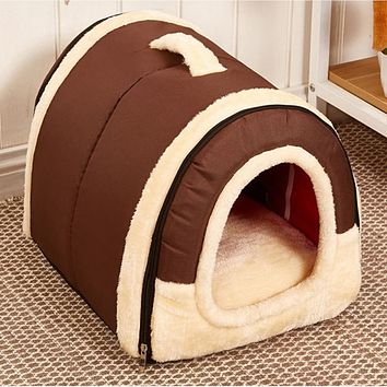 Winter New Arrival Lovely Soft Pet Products Dog Bed Pet House Washable Pet Circular House Durable For small large dog cats