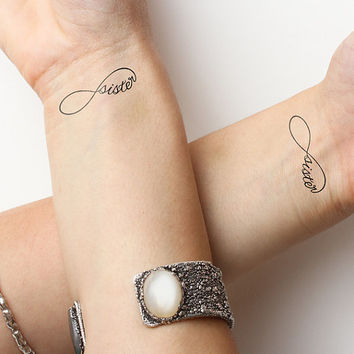 Infinity - Sister - Temporary Tattoo (Set of 2)