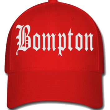 bompton EMBROIDERY HAT - Flexfit Baseball Cap