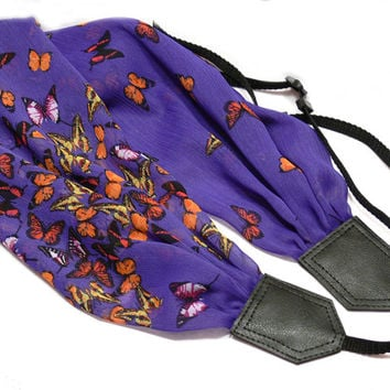 Scarf Camera Strap, Butterflies Camera Strap, Canon, Nikon Camera Strap, Women Accessories