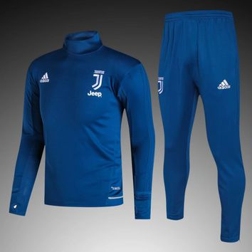KUYOU Juventus 2017/18 Blue Men Tracksuit Slim Fit