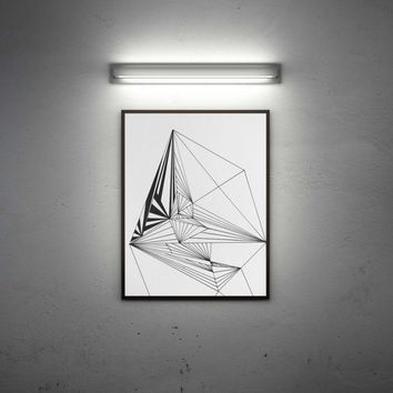 "Printable art "" Geometric room "" Instant Download, POSTER 70x100"