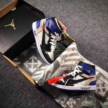 ONETOW Best Online Sale The 10 OFF WHITE x Fragment x Nike Air Jordan 1 Retro High OG 10X AJ1 Basketball Shoes Buffalo Sneaker AA3834-101