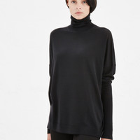 Totokaelo - Acne Studios Black Delight Merino Turtleneck - $330.00