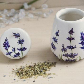 Hand Painted Herb Pod  Lavender ready to ship by yevgenia on Etsy