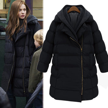 Cotton Thicken Padded Plus Size Winter Hats Coat Jacket [9344408260]