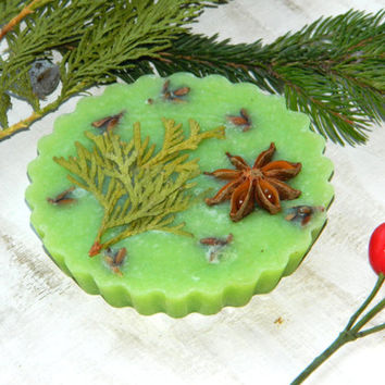 Conifer soap-pine extract-Forest soap-vegan decorative-All natural-guest soap-handcrafted,Cupcake,green-bath and beauty-cedar oil-pine oil
