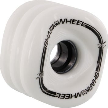 Shark Mako 70mm 80a White Longboard Wheels