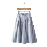 Design Strong Character Stylish Korean Stripes Cotton Linen Skirt Women's Fashion Dress Umbrella [4914968324]