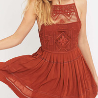 Free People Emily Orange Dress - Urban Outfitters