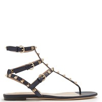 Rockstud flat leather sandals | Valentino | MATCHESFASHION.COM UK