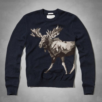 Moose Intarsia Sweater