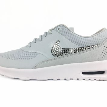 CLEARANCE - Nike Air Max Thea - Crystallized Swarovski Swoosh - Platinum
