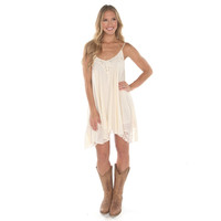 Women's Asymmetrical Dress With Lace Details