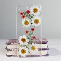 Rebbygena Trendy Dried Flower Case iPhone 6 iPhone 6s Transparet Petal Sunflower Case for iPhone 6/6s 4.7 inch