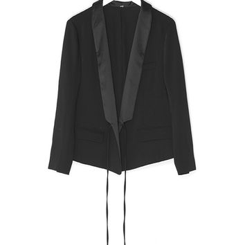Early Spring Satin Blazer