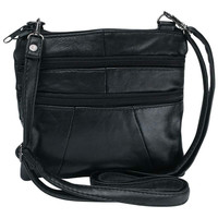 EMBASSY SMALL BLACK GENUINE LEATHER PURSE