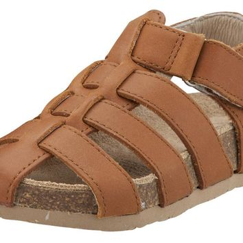 Old Soles Boy's Roadstar Fisherman Tan Leather Sandals