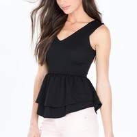 All I Want Double Layer Peplum