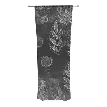 "Marianna Tankelevich ""Grey Dream"" Black Gray Decorative Sheer Curtain"