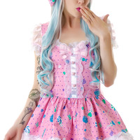 Lip Service Candy Lolita Dress Multi