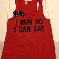 I Run So I Can Eat Racerback
