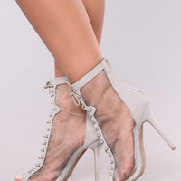 Breezy Mesh Lace Up Bootie - Grey