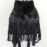 FRINGE BACKPACK - BLACK