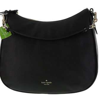 Kate Spade New York Mulberry Street Maude Pebbled Leather Shoulder Bag (Black)