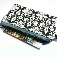 Black and white women wallet, purse, id1370367 credit card case, coin purse, portemonnaie, gift ideas, portefeuille, pouch