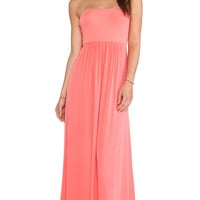 Splendid Strapless Maxi Dress in Pink