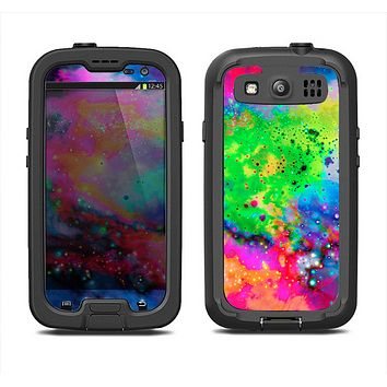 The Neon Splatter Universe Samsung Galaxy S3 LifeProof Fre Case Skin Set