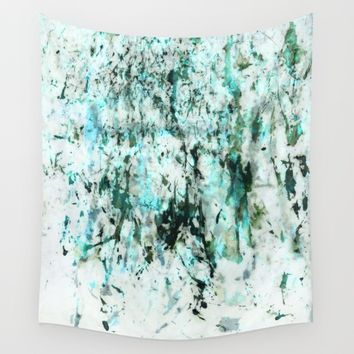 green texture Wall Tapestry by Patternization