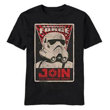 Star Wars JOIN THE IMPERIAL FORCE Stormtrooper Licensed Adult T-Shirt - S-2XL