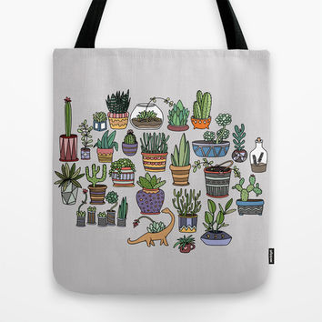 Succulent Party Tote Bag by Alliedrawsthings | Society6