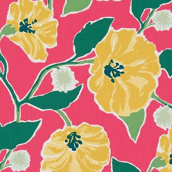 Robert Allen Fabric 260311 Jungle Bloom Strawberry