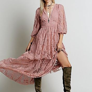 Free People Womens Cloud Chaser Dress - Blush